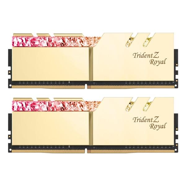 DDR4 64G PC4-25600 CL16 TRIDENT Z ROYAL 골드 (32Gx2)