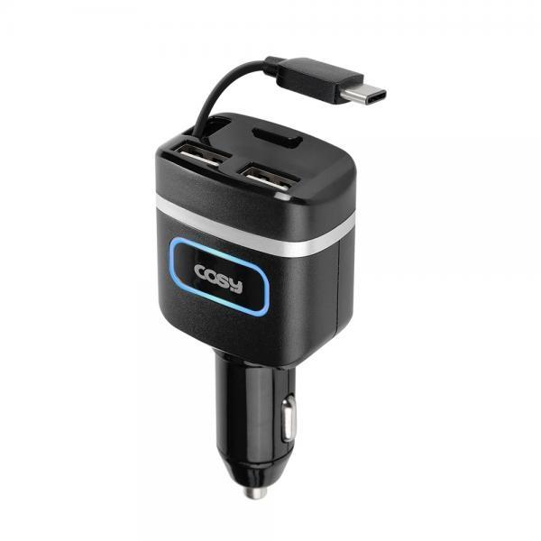 루피 QC3.0 USB2포트 차량용충전기 [분리형/일체형/고속충전지원/퀵차지3.0/C타입/2포트/블랙]