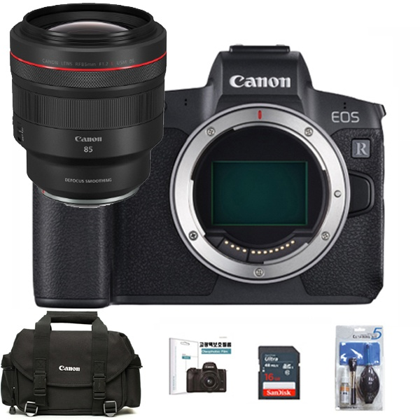 EOS R BODY + RF85mm F1.2 L USM DS + 128G메모리 + 고광택보호필름 + DSLR정품가방