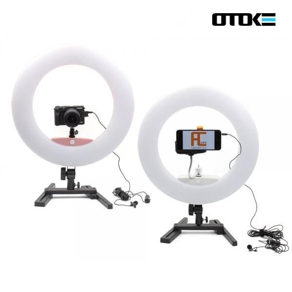 오토케링 + 마이크 개인방송장비 세트 1인방송 스마트폰 카메라 겸용