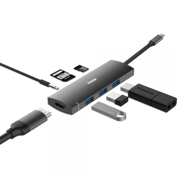 아이노트 USB C타입 멀티 컨버터, 오디오 지원 [FS-CH41P]