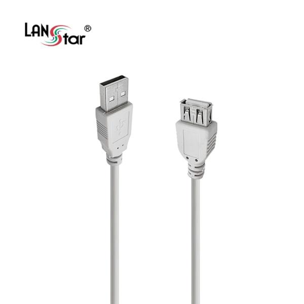 랜스타 USB2.0 연장케이블 [AM-AF] 0.15M [그레이/LS-USB-AMAF-0.15M]