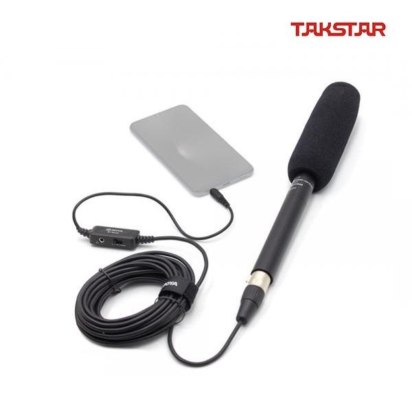 TAKSTAR SGC-568  콘덴서 마이크 + BY-BCA6 스마트폰 변환 6m 케이블