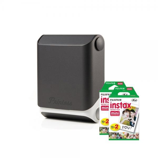 토미 스마트폰 휴대용 포토 프린터 Printoss(프린토스) [옵션] 블랙(Sumi) + 인화지 40매
