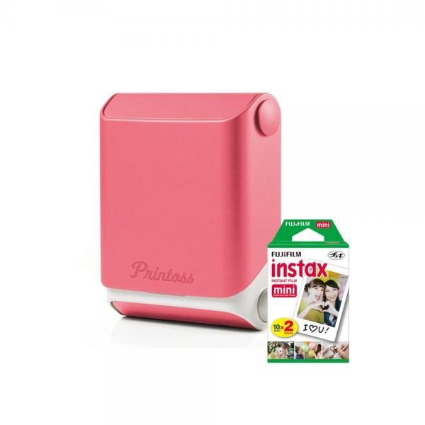 토미 스마트폰 휴대용 포토 프린터 Printoss(프린토스) [옵션] 핑크(Sakura) + 인화지 20매