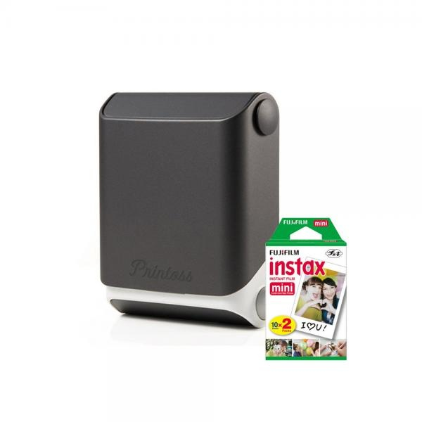 토미 스마트폰 휴대용 포토 프린터 Printoss(프린토스) [옵션] 블랙(Sumi) + 인화지 20매