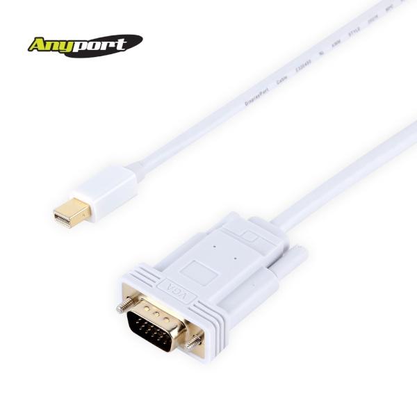 애니포트 Mini DP 1.1 to VGA(RGB) 케이블 [2M/화이트] [AP-MDPVGA020]
