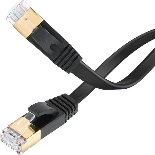 NETmate CAT.7 STP 다이렉트 FLAT 케이블 0.5M [NMC-UF705S]