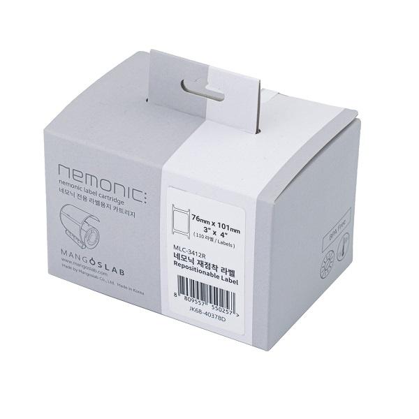 네모닉라벨 전용 재점착 카트리지 3X4 [76mm x 101mm /110매]