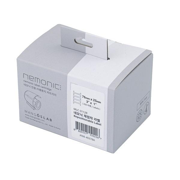 네모닉라벨 전용 재점착 카트리지 3X1 [76mm x 25mm /420매]