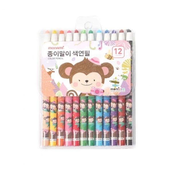 종이말이 12색 색연필(핑크) [GKS32630]