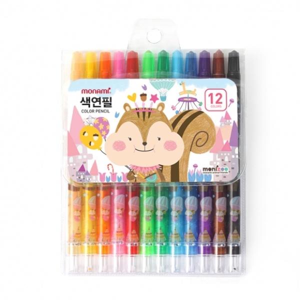 샤프식 12색 색연필 핑크 [GKS32632]