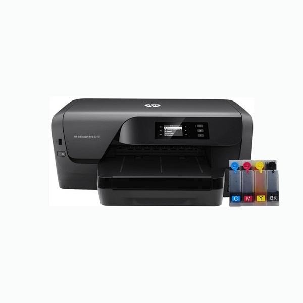 [HP(병행)] HP Officejet Pro 8210 프린터 (병행수입) + 휘슬러 무칩 무한공급기 [500ml]