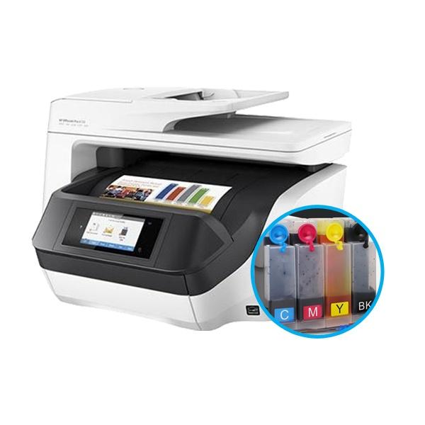 [HP(병행)] HP Officejet Pro 8720 복합기 (병행수입) + 휘슬러 무칩 무한공급기 [500ml]