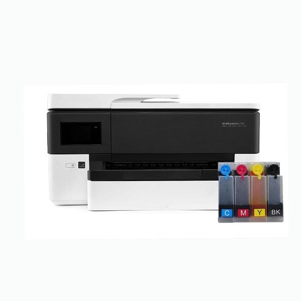 [HP(병행)] HP Officejet Pro 7720 복합기 (병행수입) + 휘슬러 무칩 무한공급기 [500ml]
