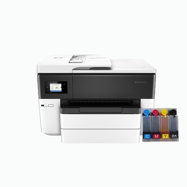 [HP(병행)] HP Officejet Pro 7740 복합기 (병행수입) + 휘슬러 무칩 무한공급기 [840ml]