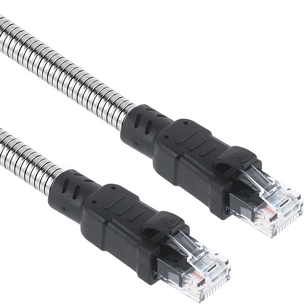 KW CAT.6A UTP 아머드 랜 케이블 0.5M [KW-6005AR]