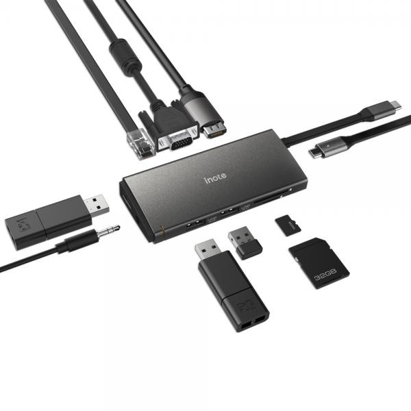 아이노트 USB C타입 멀티 컨버터, 오디오 지원 [FS-CH55P]