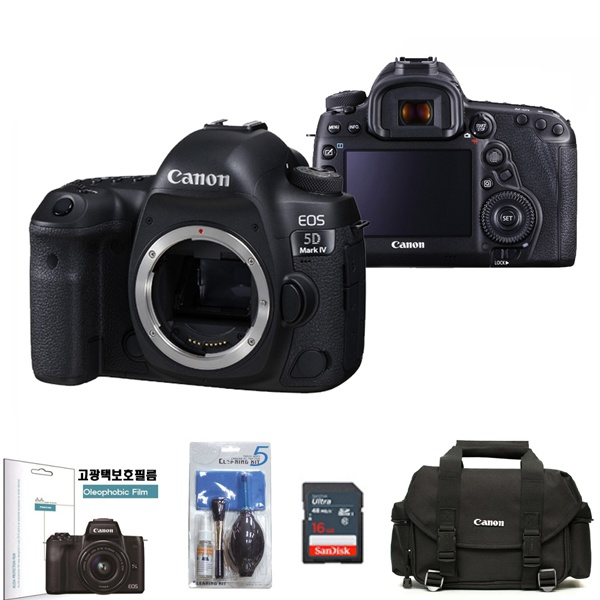EOS 5D Mark IV BODY + SD128G + DSLR정품가방 + LCD보호필름 + 크리닝킷 패키지