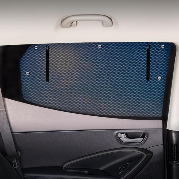 듀얼 에어 메쉬 윈도우 썬블럭 차량용 선쉐이드 1+2열 세트