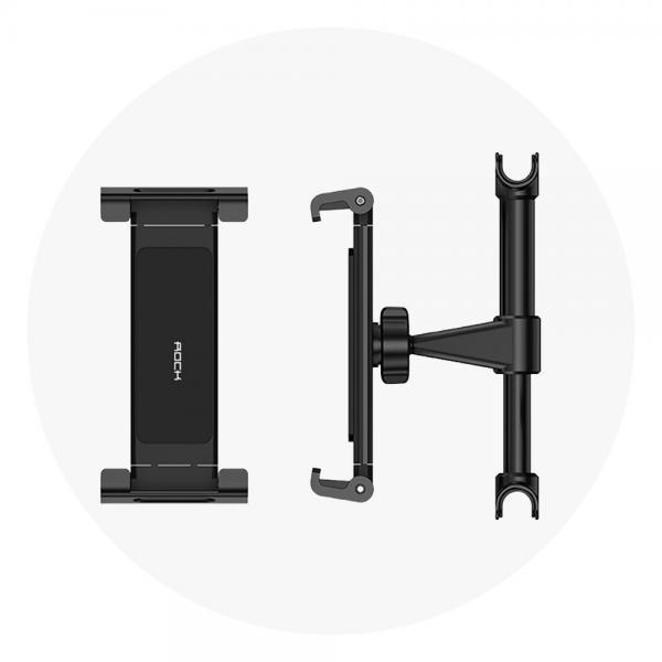 탭 옵션 차량용 뒷좌석 거치대 일반형 벌크형 [태블릿/헤드레스트/거치/그립/블랙]