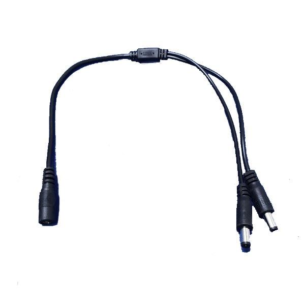 주연전자 CCTV Y형 전원분배 연장케이블 [1:2분배/0.4M]