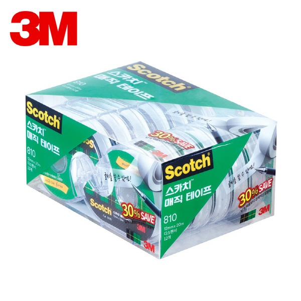 스카치 매직 테이프 세이빙팩 810D-12 [12mmx20M]