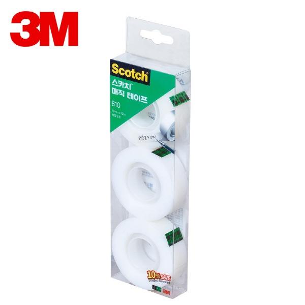 스카치 매직 테이프 세이빙팩 810R-3 [18mmx32M]