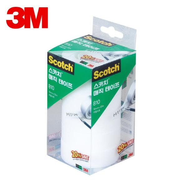 스카치 매직 테이프 세이빙팩 810R-6 [18mmx32M]