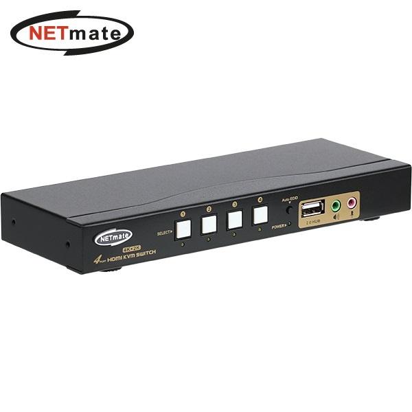 NETmate NM-HKD04C [HDMI KVM스위치/ 4:1/USB/케이블 포함]