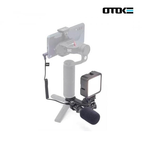 스마트폰 짐벌 추가 장비 촬영 세트 / 조명 + 코미카  CVM-VM10II + 브라켓 풀패키지