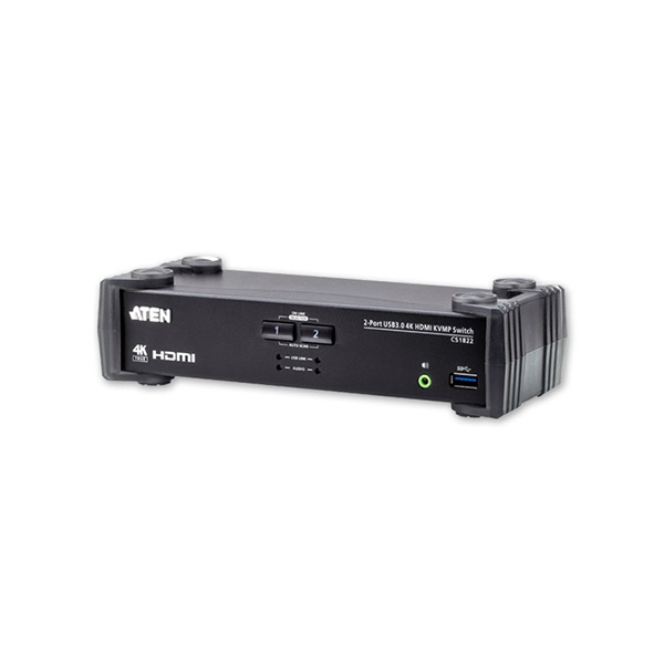 에이텐 CS1822[HDMI KVMP스위치/4K/2:1/USB/케이블포함]