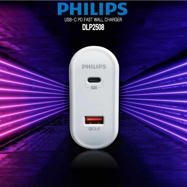 필립스 QC3.0+PD 2PORT 퀵차지3.0 고속충전기 (DLP2508)