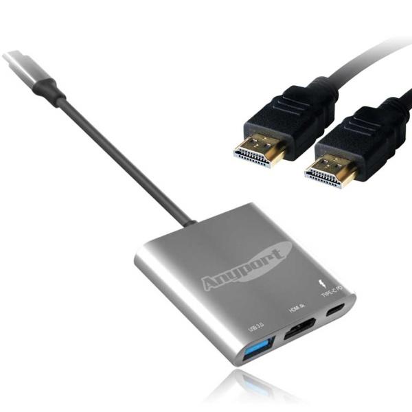 애니포트 USB Type-C to HDMI 미러링 컨버터 [AP-TC31PHDMI2]