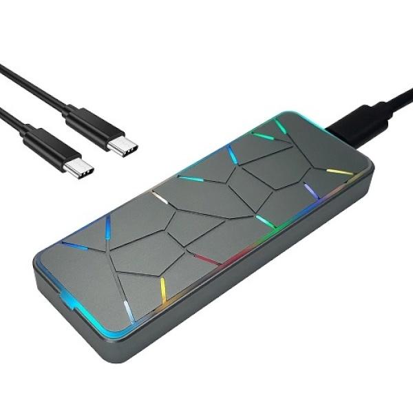 외장 케이스, PNC PARTNER EVEREST CLUB RGB M.2 NVMe SSD [하드미포함]