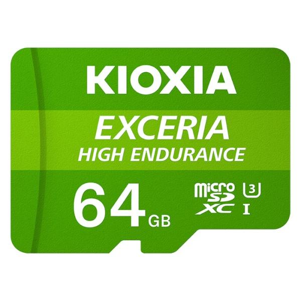MicroSDHC/XC, CLASS10, UHS-I(U3), V30, A1, 4K(UHD), 100MB/s EXCERIA HIGH ENDURANCE 64GB  [어댑터 포함] [LMHE1G064GG2]