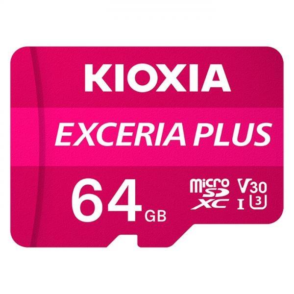 MicroSDHC/XC, CLASS10, UHS-I(U3), V30, A1, 4K(UHD), 100MB/s EXCERIA PLUS 64GB  [어댑터 포함] [LMPL1M064GG2]
