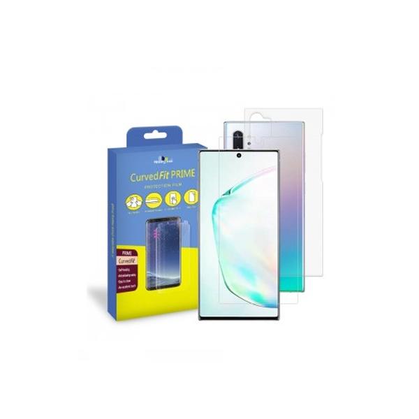 갤럭시노트10 플러스용 프라임 고광택 액정보호필름 2매 후면2매
