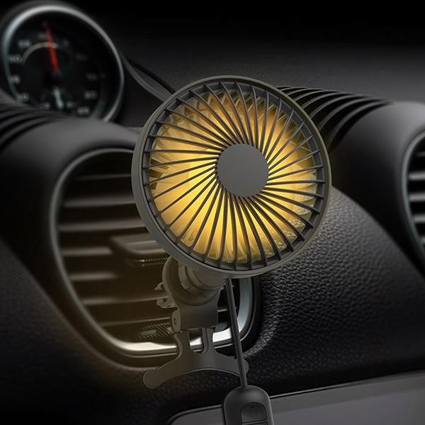 2세대 자동회전 LED 차량용에어 써큘레이터 WNA-CF200P [차량용선풍기/블랙]