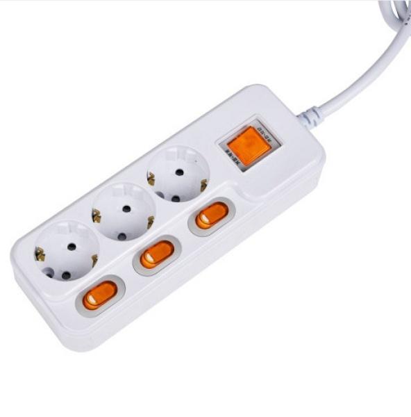 멀티탭 [3구/16A/개별+멀티(메인)] HDHMP-33L [3M]