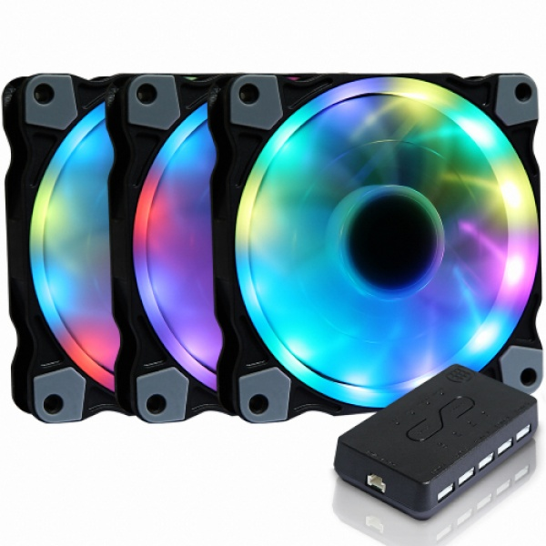 MANIC 트윙클 Digital RGB Sync (3PACK/Controller) [시스템쿨러/120mm]