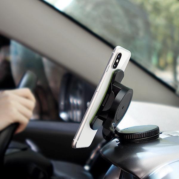 360도 각도조절 차량용 스마트폰 안전거치대 DAJABA [핸드폰/유리/대시보드/흡착/블랙]