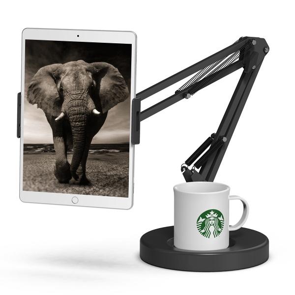 코끼리리빙 원형태블릿거치대 화이트/블랙