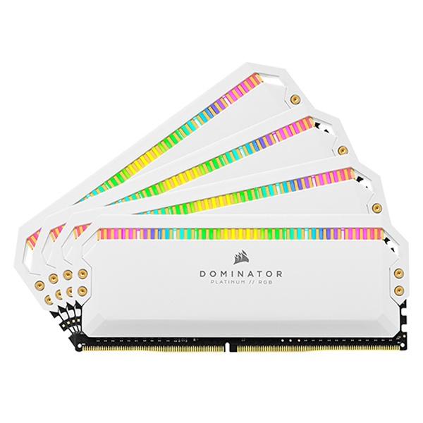 DDR4 32GB [8GB x 4] PC4-28800 CL18 Dominator Platinum RGB WHITE