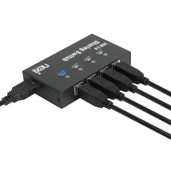 넥시 4:1 USB 2.0 스위치 [NX-U241S] [NX1016]