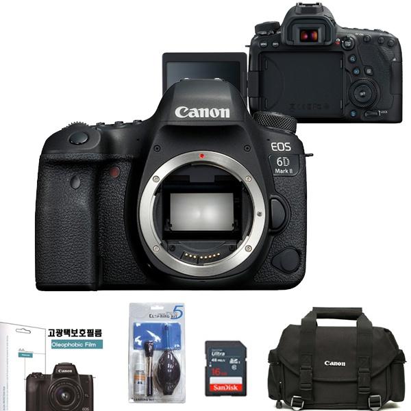 EOS 6D Mark II BODY+LCD보호필름+정품DSLR가방+크리닝킷+SD128GB 메모리풀패키지