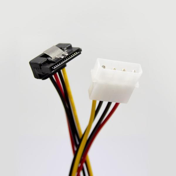 HDTOP IDE-SATA 전원 ㄱ자 연장 케이블 0.15M [HT-I14]