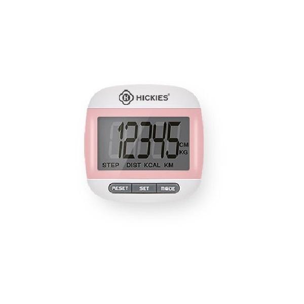 칼로리 측정 시계기능 클립형 BIG LCD 정밀 PT 만보계 HBPA-100 [ 핑크 ]