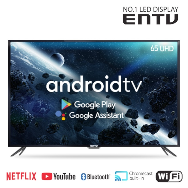 이엔티비 65인치 구글AI 스마트 UHDTV / 안드로이드TV / 넷플릭스, 유튜브 / EN-SM650U