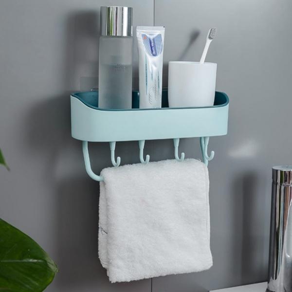 [GTS37156]멀티수납 부착식 욕실선반(스카이)